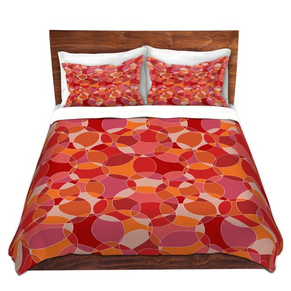 Marchand Julia Grifol Bubbles Red Microfiber Duvet Covers by Latitude Run