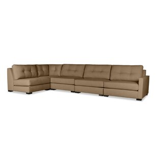 Secrest Buttoned Left L-Shape Modular Sectional