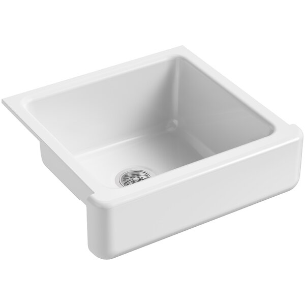 Whitehaven Self-Trimming 23-1/2 L x 21-9/16 W x 9-5/8 Under-Mount Single-Bowl Sink with Short Apron by Kohler