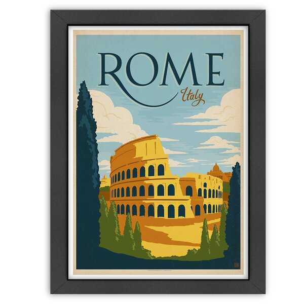 Rome Framed Vintage Advertisement by East Urban Home