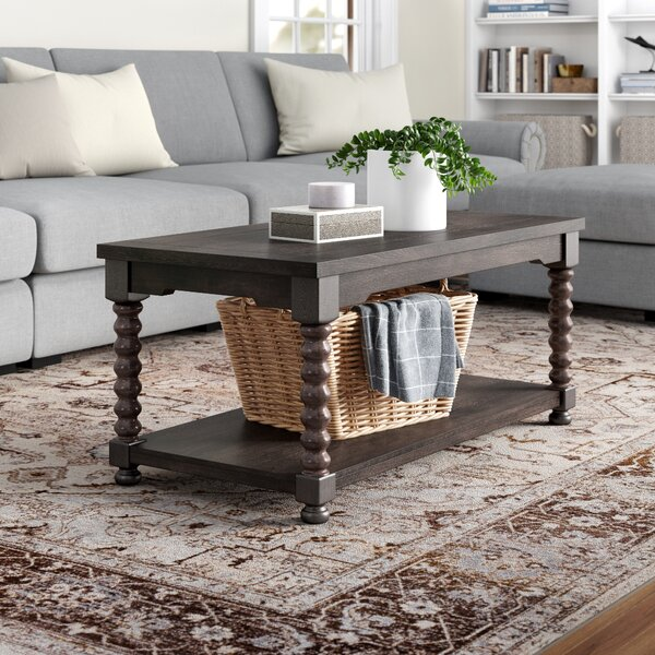 Kenbridge Floor Shelf Coffee Table With Storage By Three Posts