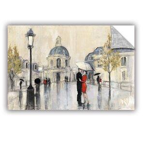 Spring Rain Paris Painting Print by Red Barrel Studio