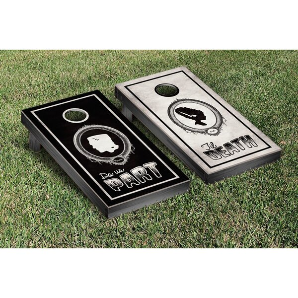 NCAA Til Death Do Us Part Sillhouette Cornhole Game Set by Victory Tailgate