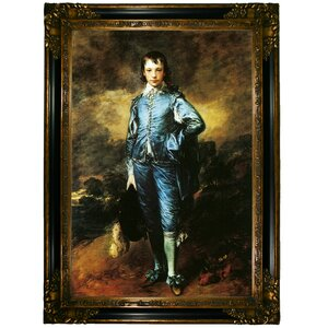 'The Blue Boy, Portrait of Jonathan Buttall' by Thomas Gainsborough Framed Painting Print by Historic Art Gallery