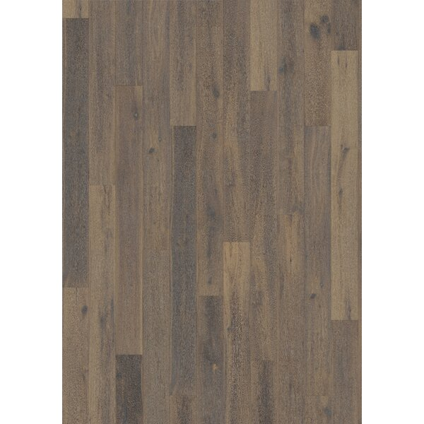 Woodloc Sweden 7-1/2 Engineered Oak Hardwood Flooring in Concrete by Kahrs