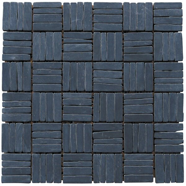 Landscape Wonder 12 x 12 Alternate Natural Stone Mosaic Tile in Black Slate by Intrend Tile