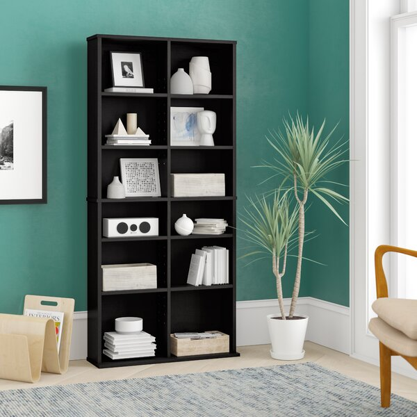 Continuum Library Bookcase By Ebern Designs