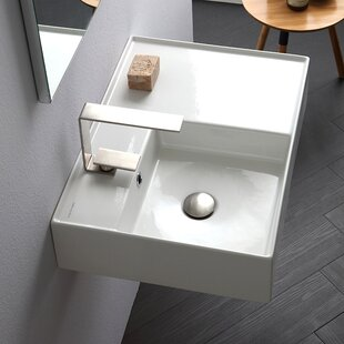 Find for Teorema Ceramic Rectangular Vessel Bathroom Sink with Overflow ByScarabeo by Nameeks