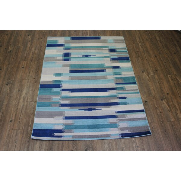 Kilim Blue / Teal Area Rug by Rug Factory Plus