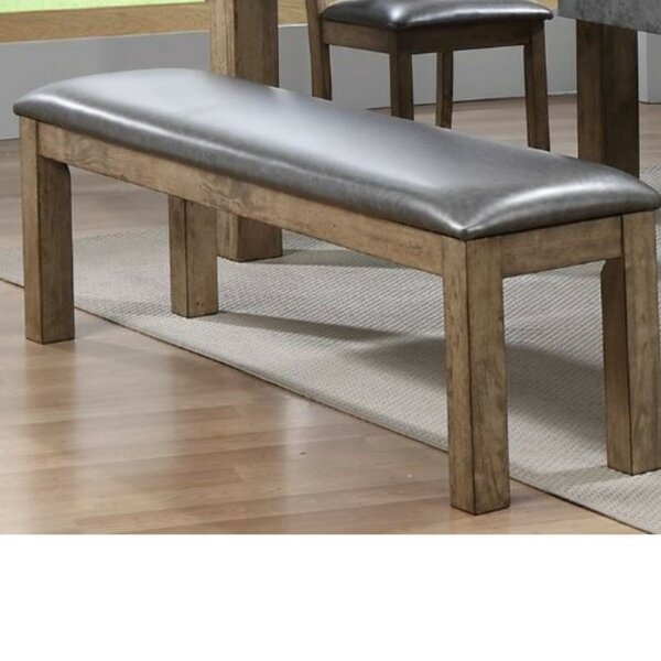 Liska Faux Leather Upholstered Bench by 17 Stories
