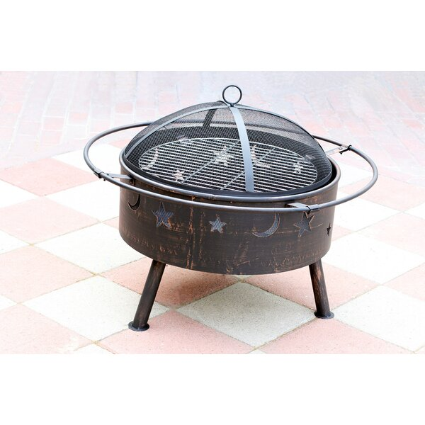 Starlight Steel Wood Burning Fire Pit by Jeco Inc.