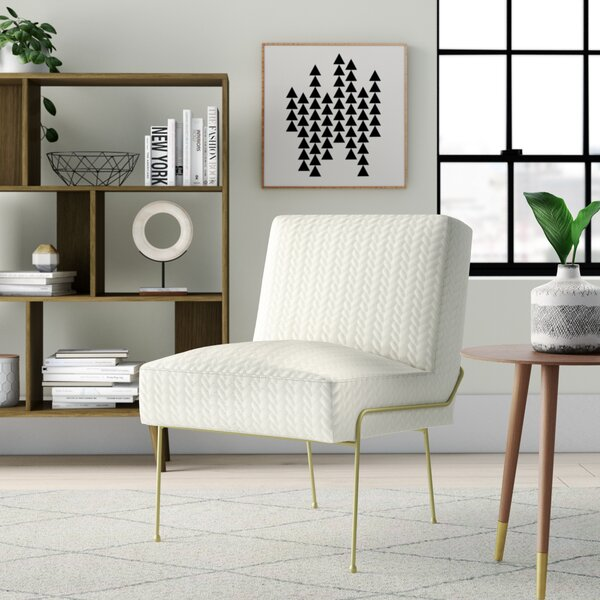 Kourtnee Slipper Chair by Everly Quinn