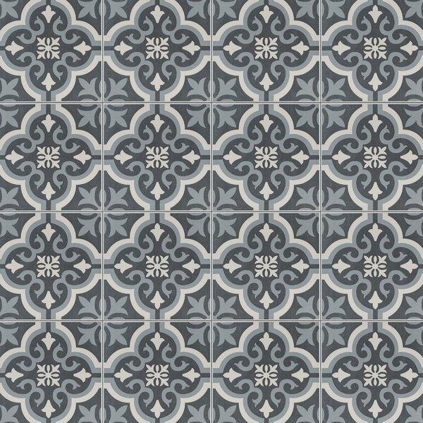 Lima 7.75 x 7.75 Ceramic Field Tile in Charcoal Gr