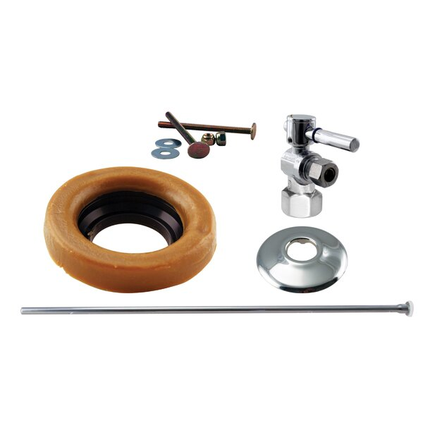 Toilet Kit with Stop and Wax Ring Lever Handle by Westbrass