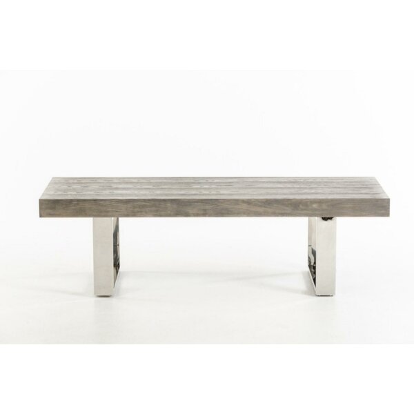 Hume Sleigh-Style Leg Wood and Metal Bench by Brayden Studio