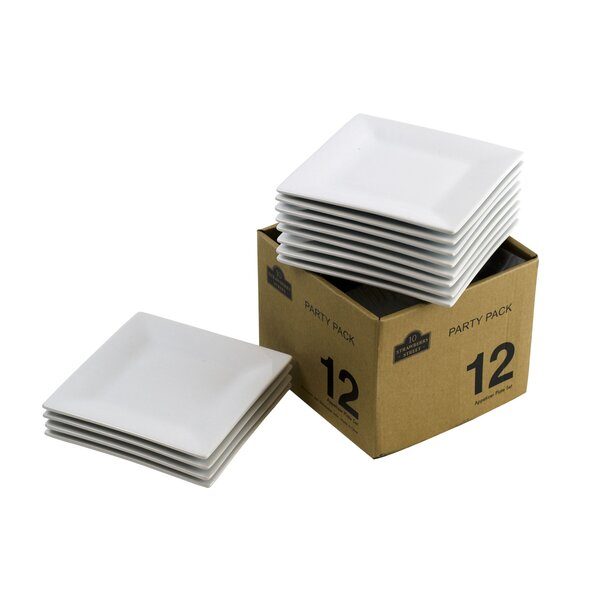 Party Packs 6 Square Bread and Butter Square (Set of 12) by Ten Strawberry Street