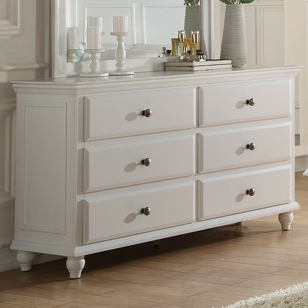 Trisa 6 Drawer Double Dresser by A&J Homes Studio