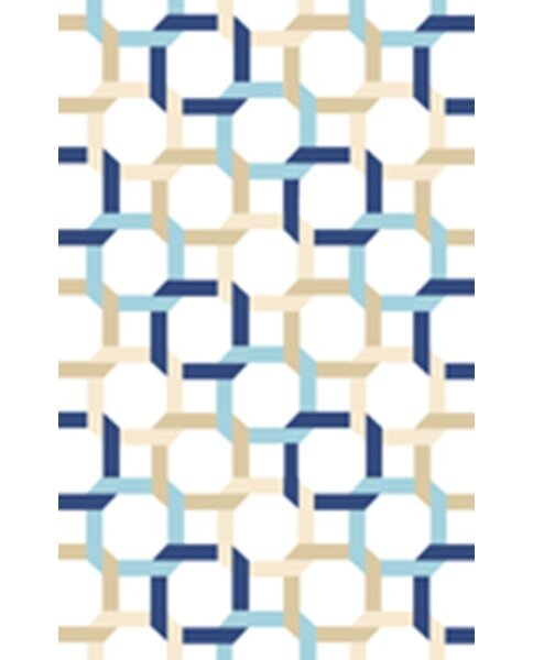 Tufted-Hand-Loomed Blue/Green/Yellow Area Rug by Martha Stewart Rugs