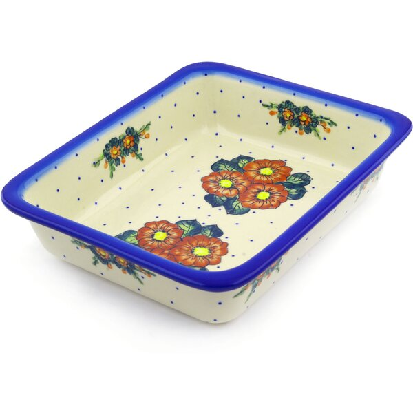 Rectangular Non-Stick Polish Pottery Baker by Polmedia