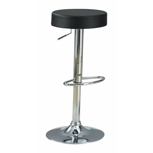Woolfolk Stylish and Elegant Backless Adjustable Height Swivel Bar Stool by Orren Ellis