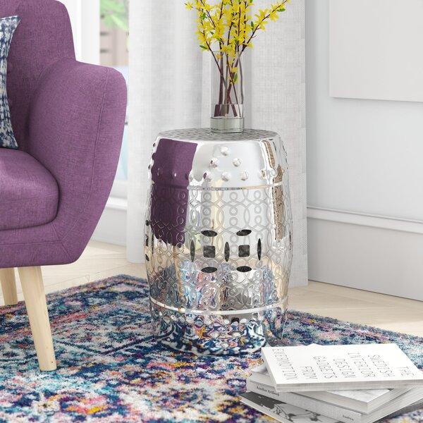 Patrick Ceramic Garden stool by Ebern Designs Ebern Designs