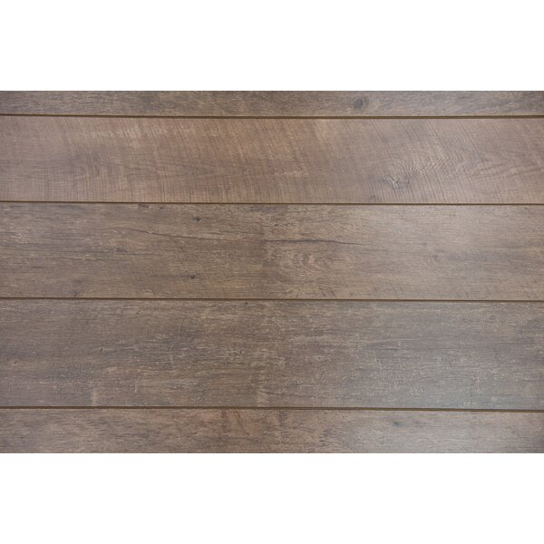 Geneva 9 x 48 x 12mm Driftwood Laminate Flooring in Brown by Branton Flooring Collection