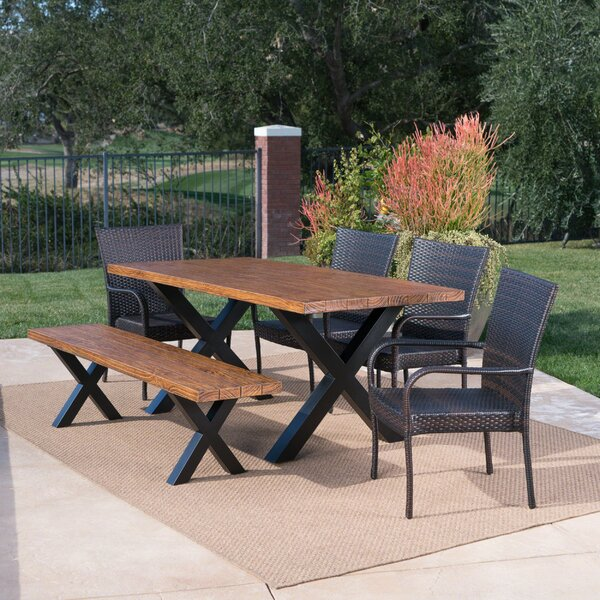 Starrett Outdoor 6 Piece Dining Set by Millwood Pines