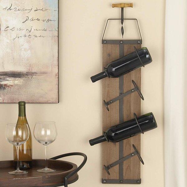 cole u0026 grey woodmetal 4 bottle wall mounted wine rack u0026 reviews wayfair
