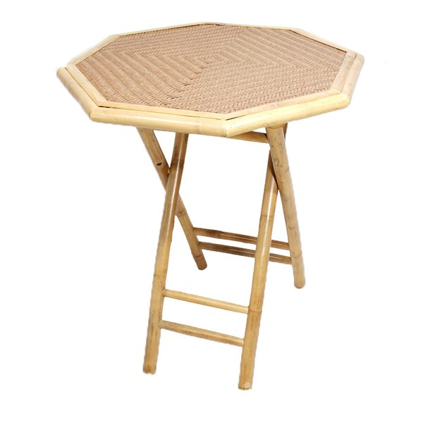 Farallones Octagonal Folding Bamboo End Table By Bay Isle Home