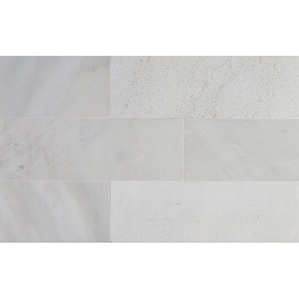 Greecian 4 x 12 Marble Subway Tile in White by MSI