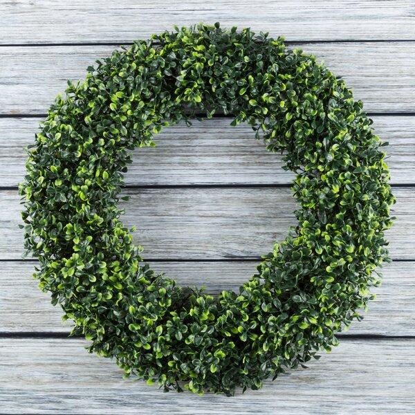 Round Artificial 19.5 Boxwood Wreath by Laurel Foundry Modern Farmhouse