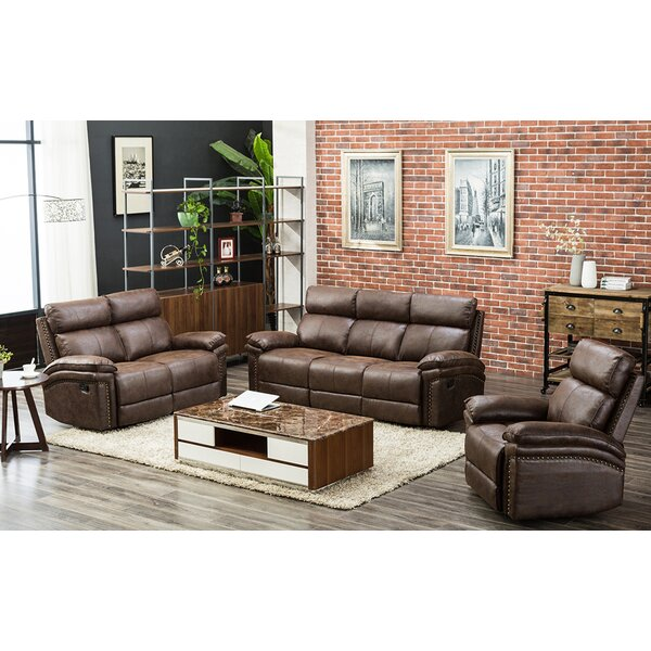 Home & Outdoor Maghakia 3 Piece Reclining Living Room Set