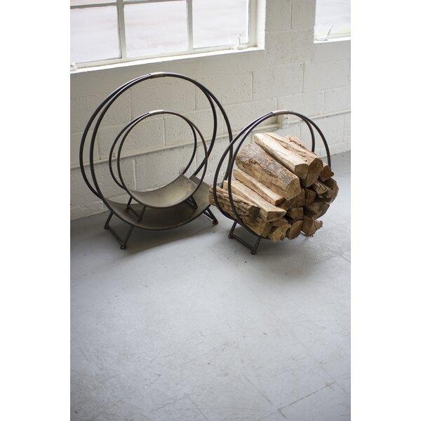 Metal Firewood 3 Piece Log Carrier Set by Kalalou