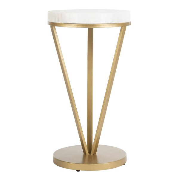 Irwin Pedestal End Table by Mercer41 Mercer41