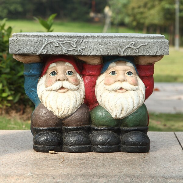 Two Gnomes Sitting Plant Stand by Hi-Line Gift Ltd.