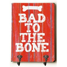 Bad to the Bone Planked Wood Wall Mounted Coat Rack by Ebern Designs