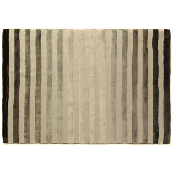 Rugby Tunnel Hand-Woven Gray/Ivory Area Rug by Exquisite Rugs