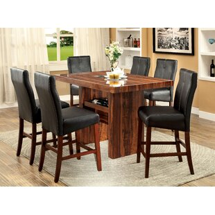 Carroll 7 Piece Counter Height Pub Table Set