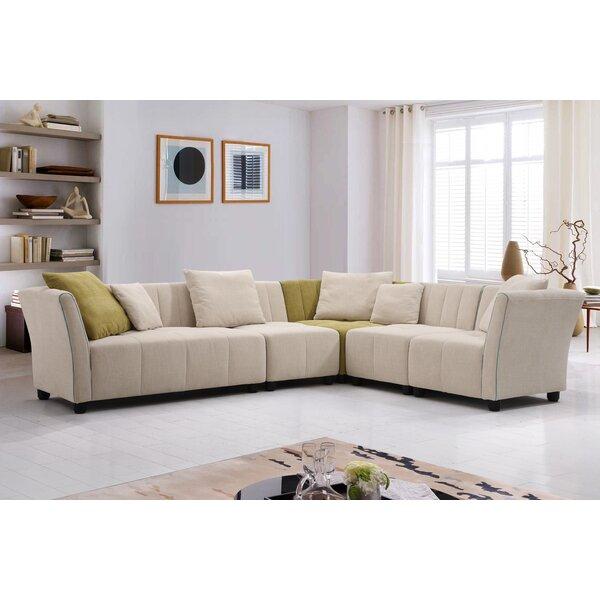 Best #1 Hasbrouck Fabric Modern 5 Piece Living Room Set By Latitude Run New