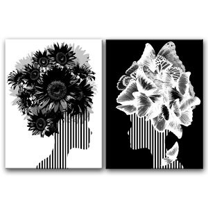 'Mod Swag II' 2 Piece Graphic Art Print Set on Wrapped Canvas by Ivy Bronx