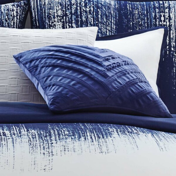 Lyon Signature V Pleated Throw Pillow by Vince Camuto