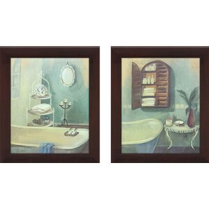 Bath 2 Piece Framed Painting Print on Canvas Set by Picture Perfect International