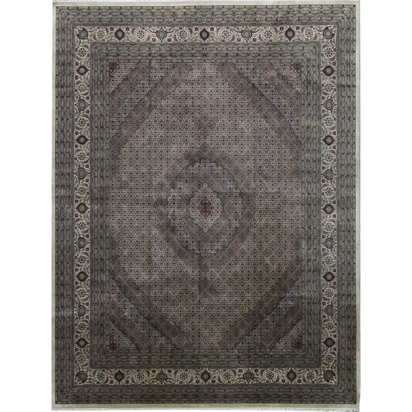 One-of-a-Kind India Hand-Knotted Gray 11'5 x 14'11 Area Rug