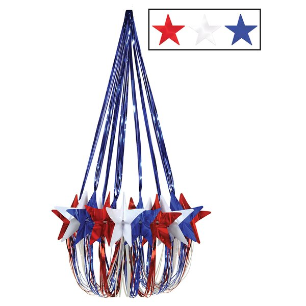 Patriotic Star Chandelier by The Holiday Aisle