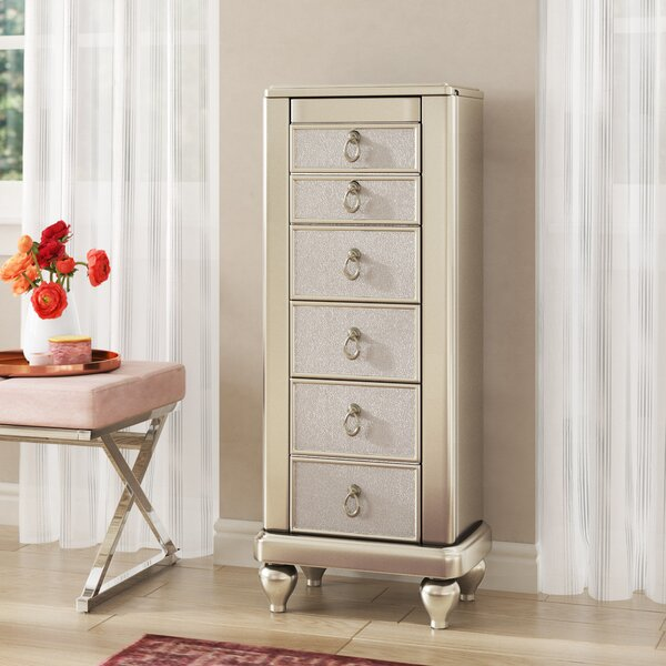 King Jewelry Armoire with Mirror by Willa Arlo Interiors