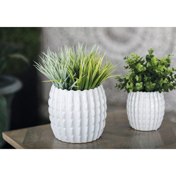 Belfield Eclectic 4-Piece Ceramic Pot Planter Set by Bay Isle Home