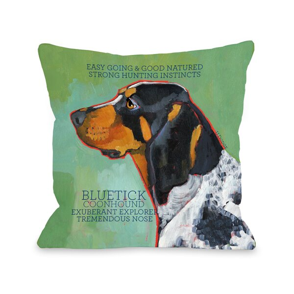 Doggy Décor Bluetick Coonhound Throw Pillow by One Bella Casa