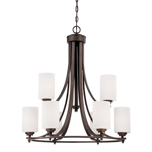 Castano 9-Light Shaded Chandelier by Andover Mills
