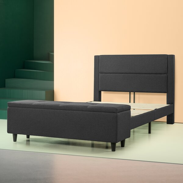 Schreffler Upholstered Storage Platform Bed by Ebern Designs