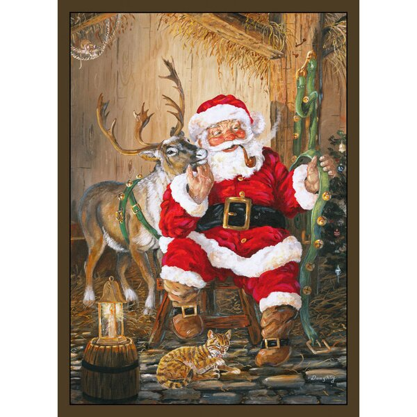 Santa and Reindeer Area Rug by The Holiday Aisle